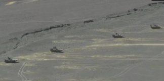 china deployed tanks on lac