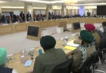 government and farmers meeting