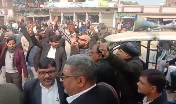 Demonstration of lawyers
