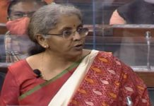 finance minister in parliament