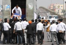 Demonstration of lawyers in Lucknow