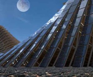 beautiful solar power plant