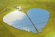 beautiful solar power plant