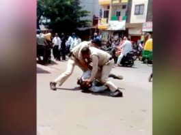 Police beat up father