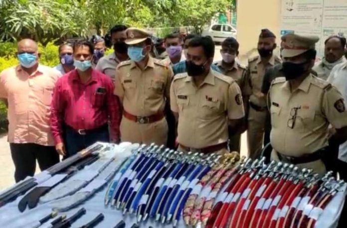 43 swords were found from home